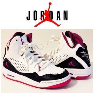 Air Jordan Flight pink white and black